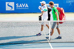 Tom Kocevar Desman (SLO) and Nik Razborsek (SLO)  after they played doubles during Day 4 of ATP Challenger Zavarovalnica Sava Slovenia Open 2018, on August 6, 2018 in Sports centre, Portoroz/Portorose, Slovenia. Photo by Vid Ponikvar / Sportida