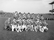 Neg no: A625/1954-1958..17031958IPHCF.17.03.1958...Interprovincial Railway Cup Hurling Championship - Final..Munster.03-07.Leinster.03-05..Leinster Team. .