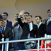 Turkish President Abdullah GUL during their Turkey Cup final match Besiktas between Istanbul BB at the Kadir Has Arena at Kayseri Turkey on wednesday, 11 May 2011. Photo by TURKPIX