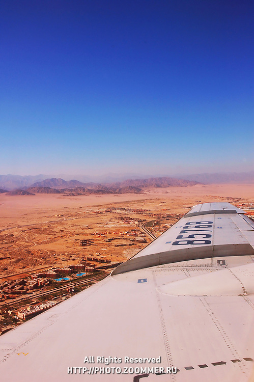 Sinai Peninsula (Sharm el-Sheikh) from the plane
