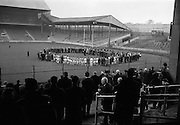Bloody Sunday 21/11/1920 Commemoration before Dublin and Tipperary Final.  The scene beneath Hill 16 as Fr. tom Walshe, O.P. Chaplain, Dublin Brigade, Old I.R.A., recited the rosary..21.11.1965