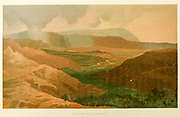 Dothan and Carmel Coloured Illustration of from the book Palestine illustrated by Sir Richard Temple, 1st Baronet, GCSI, CIE, PC, FRS (8 March 1826 – 15 March 1902) was an administrator in British India and a British politician. Published in London by W.H. Allen & Co. in 1888