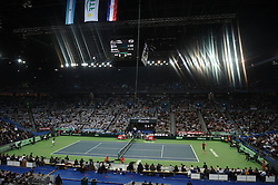 Atmosphere during day 1 at the Davis Cup final tie between Croatia and Argentina at the Arena, in Zagreb, Croatia on November, 25, 2016. Photo by Corinne Dubreuil/ABACAPRESS.COM