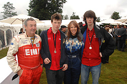 Left to right, NICK MASON, GUY MASON, NETTE MASON and CARY MASON at the Cartier Style Et Luxe at the Goodwood Festival of Speed, Goodwood House, West Sussex on 24th June 2007.<br />