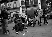 Someone suffering a fit possibly drug induced. Perfectly OK a few minutes alter. Bristol town centre. 20 October 2017