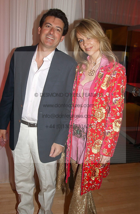 MR NICK BARHAM and SABINA MCTAGGART at the annual Laurent Perrier Pink Party held at The Sanderson Hotel, Berners Street, London on 27th April 2005.<br /><br />NON EXCLUSIVE - WORLD RIGHTS