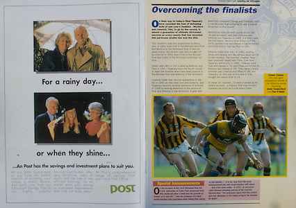 All Ireland Senior Hurling Championship - Final, .14.09.1997, 09.14.1997, 14th September 1997, .14091997AISHCF,.Senior Clare v Tipperary .Tipperary 2-16, Wexford 0-15,.Minor Clare v Galway, .an post,.Conor Clancy, Clare, Andy Comerford, Pat O'Neill, Clare,