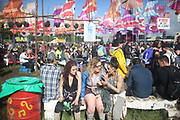 Friday at Glastonbury Festival as the annual music gets underway in Glastonbury, United Kingdom. Glastonbury Festival is a five-day festival of contemporary performing arts that takes place near Pilton, Somerset. In addition to contemporary music, the festival hosts many other arts.