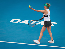 February 13, 2019 - Doha, QATAR - Elina Svitolina of the Ukraine in action during her second-round match at the 2019 Qatar Total Open WTA Premier tennis tournament (Credit Image: © AFP7 via ZUMA Wire)
