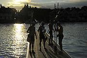 Henley on Thames. United Kingdom.   , passing through the Stewards Enclosure, 2013 Henley Royal Regatta, Henley Reach. Wednesday   [Mandatory Credit Peter Spurrier/ Intersport Images]