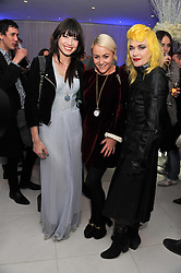 Left to right, DAISY LOWE,  JAIME WINSTONE and PAM HOGG at the pre party for the English National Ballet's Christmas performance of The Nutcracker held at the St.Martin's Lane Hotel, St.Martin's Lane, London on 14th December 2011.