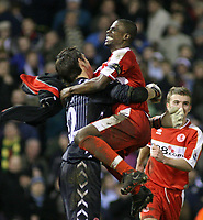 Photo: Mark Stephenson.<br /> West Bromwich Albion v Middlesbrough. The FA Cup. 27/02/2007.Middlesbrough's George Boateng (R) celebrates with his goal keeper Brad Jones
