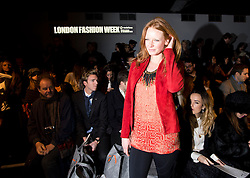 © London News Pictures. 15/02/2013. London, UK.   Olivia Inge attends the Zoe Jordan show during London Fashion Week Winter/Autumn 2013/14 on February 15, 2015. Photo credit : Ben Cawthra/LNP