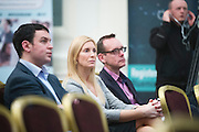 KIeran Joyce Startup Europe GAlway, Michelle Murphy Collins McNicholas and Philip Clapperton Magnet at the launch of Innovating West at Hotel Meyrick. Photo:Andrew Downes
