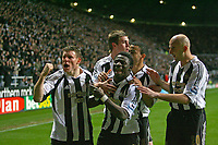 Photo: Andrew Unwin.<br />Newcastle United v Watford. The Barclays Premiership. 16/12/2006.<br />Newcastle celebrate Obafemi Martins' goal.