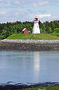The Mulholland Light on Campobello Island, New Brunswick, viewed from Lubec, Maine.