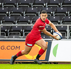 Manu Vunipola of Saracens<br /> <br /> Photographer Simon King/Replay Images<br /> <br /> European Rugby Champions Cup Round 5 - Ospreys v Saracens - Saturday 11th January 2020 - Liberty Stadium - Swansea<br /> <br /> World Copyright © Replay Images . All rights reserved. info@replayimages.co.uk - http://replayimages.co.uk