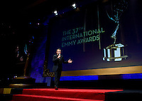 Graham Norton at the 2009 International Emmy Awards Gala hosted by the International Academy of Television Arts & Sciences in New York.  ***EXCLUSIVE***.