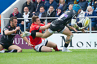 Rugby Union - 2016 / 2017 Aviva Premiership - Semi-Final: Exeter Chiefs vs. Saracens<br /> <br />  Jack Nowell Exeter Chiefs minors t foil a Saracens attack, at Sandy Park.<br /> <br /> COLORSPORT/WINSTON BYNORTH