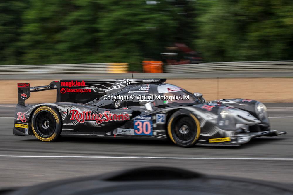 #30 Ligier JS P2-HPD, Extreme Speed Motorsport, Ryan Dalziel, David Heinemeier-Hansson at Le Mans 24H, 2015