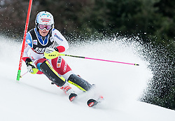 """Melanie Meillard (SUI) competes during 1st Run of FIS Alpine Ski World Cup 2017/18 Ladies' Slalom race named """"Snow Queen Trophy 2018"""", on January 3, 2018 in Course Crveni Spust at Sljeme hill, Zagreb, Croatia. Photo by Vid Ponikvar / Sportida"""