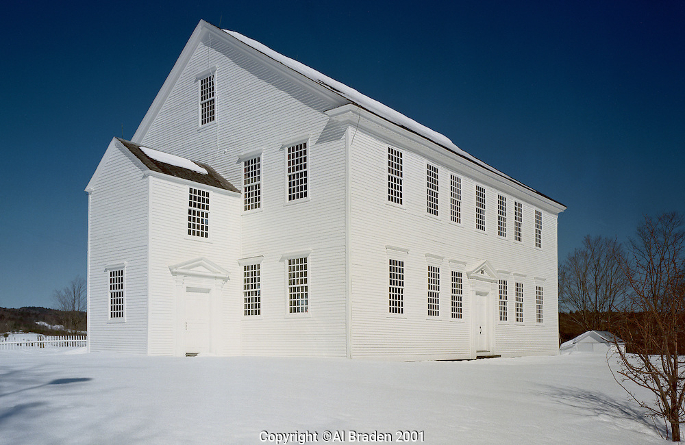 Rockingham Meeting House (b 1787-1801) is the oldest intact meeting house in Vermont, Rockingham, VT