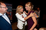 JONATHAN SHALIT; GLYNIS BARBER; SAMANTHA WOMACK, South Pacific First night party. The Barbican. London. 23 August 2011. <br /> <br />  , -DO NOT ARCHIVE-© Copyright Photograph by Dafydd Jones. 248 Clapham Rd. London SW9 0PZ. Tel 0207 820 0771. www.dafjones.com.
