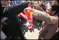 Jordanian Salafis burn the United States flag 14-9-12