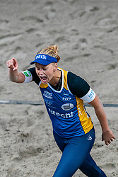 Marleen Ramond-van Iersel during the first day of the beach volleyball event King of the Court at Jaarbeursplein on September 9, 2020 in Utrecht.