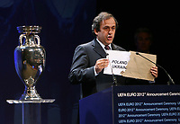 Photo: Rich Eaton.<br /> UEFA European Championships 2012 Press Conference. 18/04/2007.<br /> Poland and Ukraine are announced as the hosts of Euro 2012 by UEFA President Michel Platini.