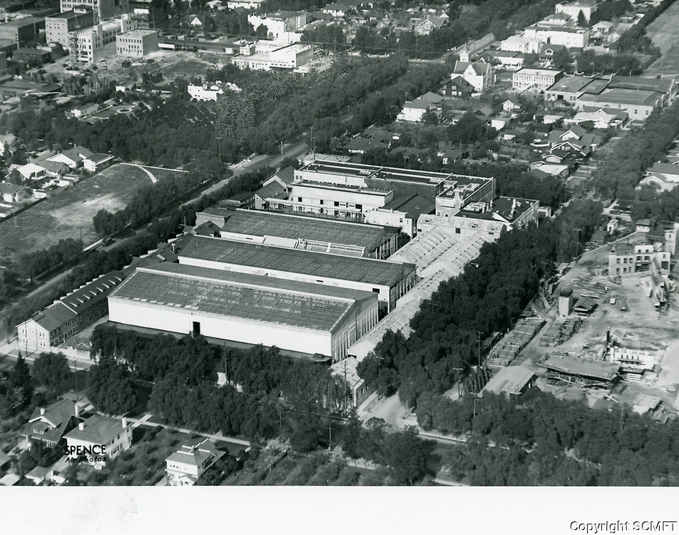 1922 Aerial photo of Famous Players Lasky Studios