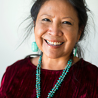 101513       Brian Leddy<br /> Navajo Housing Authority CEO Aneva Yazzie poses for a portrait in Crownpoint Tuesday.