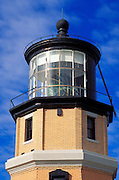 Morning light on Split Rock Lighthouse on the north shore of Lake Superior, Split Rock Lighthouse State Park, Minnesota