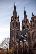 Die St. Ludmilla Kirche am Namesti Miru.