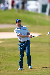 March 21, 2018 - Austin, TX, U.S. - AUSTIN, TX - MARCH 21: Branden Grace watches his approach shot during the First Round of the WGC-Dell Technologies Match Play on March 21, 2018 at Austin Country Club in Austin, TX. (Photo by Daniel Dunn/Icon Sportswire) (Credit Image: © Daniel Dunn/Icon SMI via ZUMA Press)