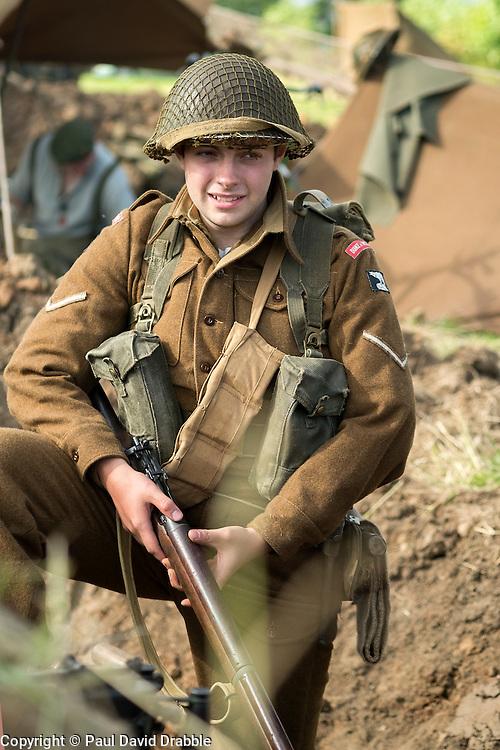 Corporal Duke of Wellingtons Regiment 49 Infantry Division<br />  17 July 2016<br />  Copyright Paul David Drabble<br />  www.pauldaviddrabble.photoshelter.com