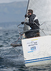 Pelle P Kip Regatta 2017 run by Royal Western Yacht Club at Kip Marina on the Clyde. <br /> <br /> GBR9470R, Banshee, Charlie Frize, CCC, Corby<br /> <br /> Image Credit Marc Turner