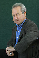 Winner of the 2005 Man Booker Prize John Banville pictured at the Edinburgh International Book Festival where he talked about his award-winning novel entitled The Sea. The Book Festival was the World's largest literary event and featured writers from around the world. The 2006 event featured around 550 writers and ran from 13-28 August.
