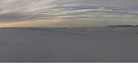 Image 3 of 4. Panorama of White Sands National Monument at Sunrise with Several Nikonian ANPAT 12 Photographers. Composite of 11 images taken with a Nikon 1 V1 camera and 10 mm f/2.8 lens (ISO 100, 10 mm, f/8, 1/60 sec). The Raw images were first processed with DxO Optics Pro 8, then combined using AutoPano Giga Pro. The final image was 19189 x 2185 pix, equivalent to a field of view of 337° x 37° (almost 360°).