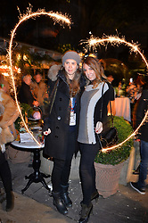 Sabrina Percy and Amber Le Bon at The Ivy Chelsea Garden's Guy Fawkes Party, 197 King's Road, London, England. 05 November 2017.
