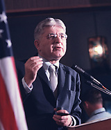 Arthur Burns, Chairman of the Board of Governors of the Federal Reserve System<br />Photo by Dennis Brack bb72