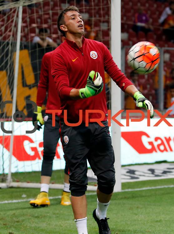 Galatasaray's goalkeeper Fernando Muslera during their Turkish Super League soccer match Galatasaray between Osmanlispor at the AliSamiYen Spor Kompleksi TT Arena at Seyrantepe in Istanbul Turkey on Monday, 24 August 2015. Photo by Aykut AKICI/TURKPIX