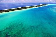 Aerial of Bora Bora atoll, Tahiti, French Polynesia by Andrea Wells