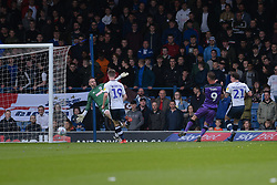 Tom Pope of Port Vale scores to make it 1-0 - Mandatory by-line: JMP - 04/05/2019 - FOOTBALL - Gigg Lane - Bury, England - Bury v Port Vale - Sky Bet League Two