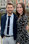 Photocall cast The Bold and the Beautiful in Hotel De L'Europe , Amsterdam <br /> <br /> On the Photo:  Ashleigh Brewer and Scott Clifton