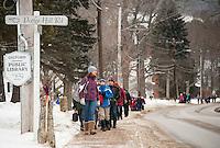 Gilford Elementary School Thompson-Ames Historical Society walking field trip.  Karen Bobotas Photographer