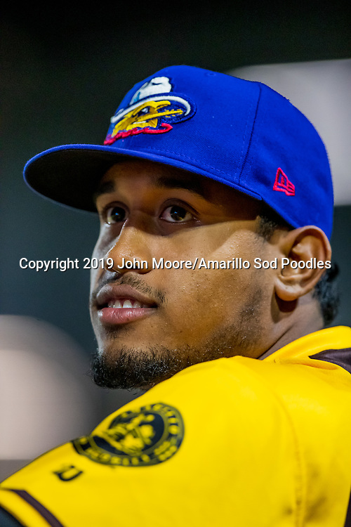 Amarillo Sod Poodles pitcher Ronald Bolanos (16) against the Frisco RoughRiders on Saturday, Aug. 17, 2019, at HODGETOWN in Amarillo, Texas. [Photo by John Moore/Amarillo Sod Poodles]