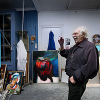 Nederland, Amsterdam , 13 november 2012..Leo Schatz (Amsterdam, 10 maart 1918) is een Nederlands kunstschilder, tekenaar en dichter..Leo Schatz (Amsterdam, 10 March 1918) Dutch artist, painter, designer and poet.