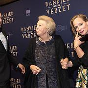 NLD/Amsterdam/20180305 - Première Bankier van het Verzet, Prinses Margarita en partner Tjalling ten Cate en Prinses Beatrix
