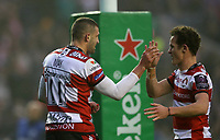 Rugby Union - 2017 European Rugby Challenge Cup Final - Gloucester vs. Stade Francais<br /> <br /> Jonny May of Gloucester scores a try during the match at Murrayfield.<br /> <br /> COLORSPORT/LYNNE CAMERON